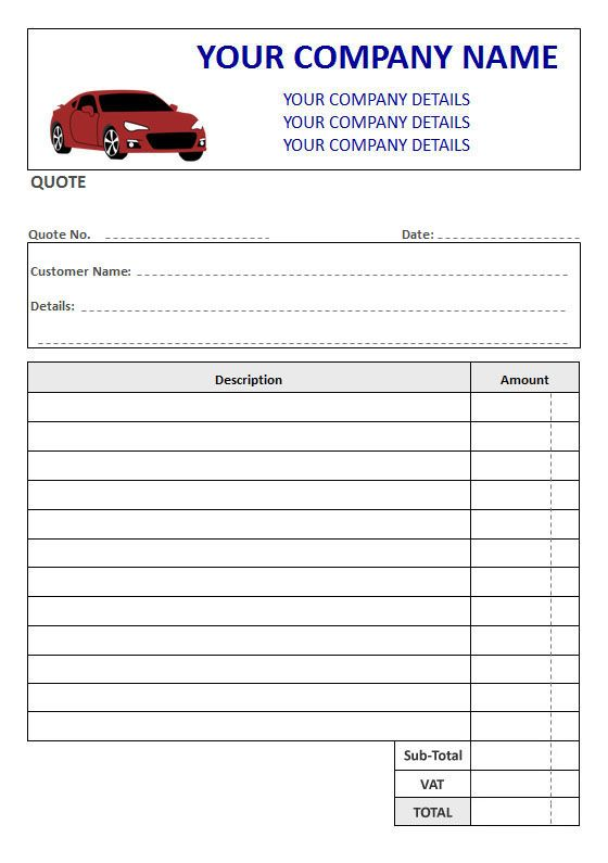 Mechanics NCR Quote Pads, Duplicate or Triplicate, 2 Column Lined + VAT Box